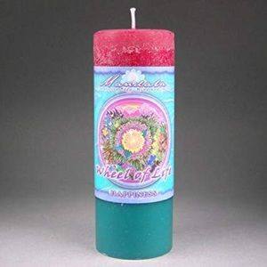 Crystal Journey Mandala Pillar Candle Happiness